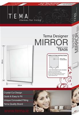 TEMA SWIFT DESIGNER MIRROR REC 80X60 CUT DESIGN
