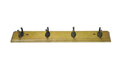TEMA COAT HOOK 4 PIN PINE