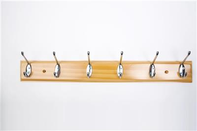 TEMA COAT HOOK 6 PIN ANTIQUE PINE
