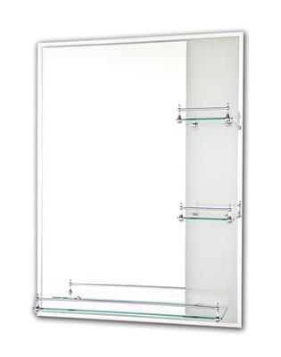 TEMA ETCHED MIRROR RECTANGLE 80X60CM w 3 SHELVES