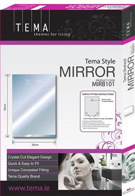 TEMA STYLE MIRROR RECTANGLE 70X50 DIAMOND BEADS