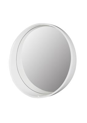 TEMA TUSCANY 60cm WHITE ROUND FRAMED SHELF MIRROR