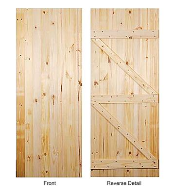 LEDGED/BRACED UTILITY DOOR 80 x 32in x 44mm