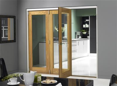 SLIDEFOLD ELITE 54 EXT OAK PRE FINISHED 8FT 3 DOOR