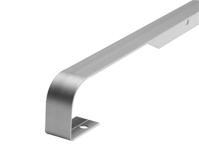 WORKTOP SILVER 38MM  BUTT JOINT  6MM PROFILE